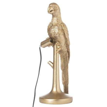 Percy The Parrot Gold Table Lamp